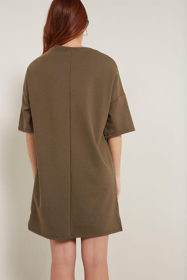 Oversize Šaty s Krátkým Rukávem a Kapsičkou