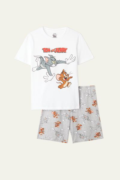 Kurzer Pyjama mit Tom and Jerry Print Run