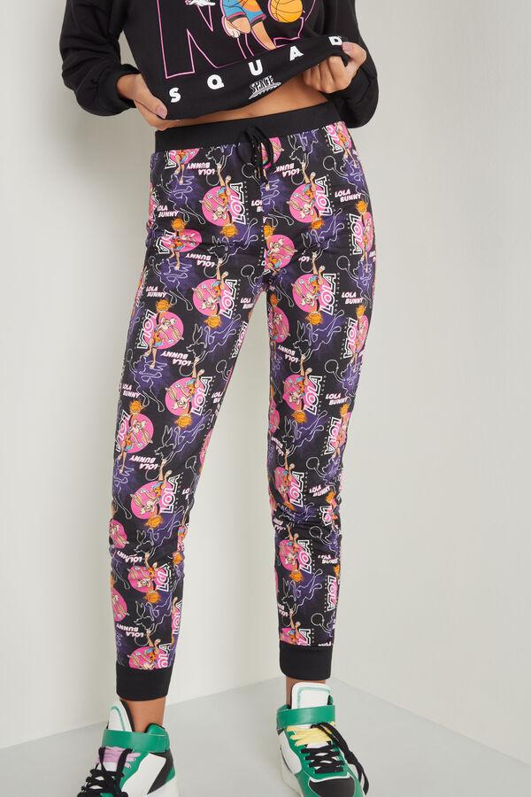 Pantalon Long Coton Imprime Space Jam