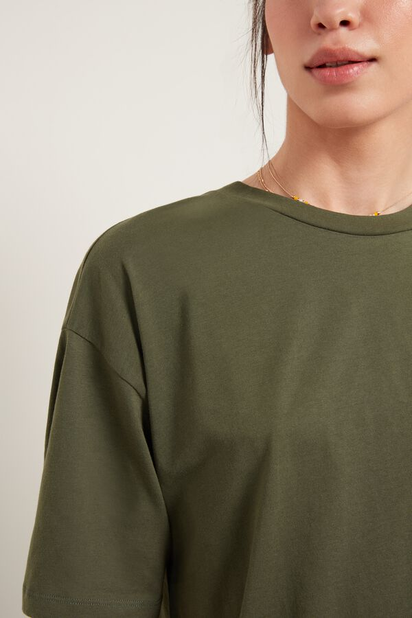 T-Shirt Lunga in Cotone Over
