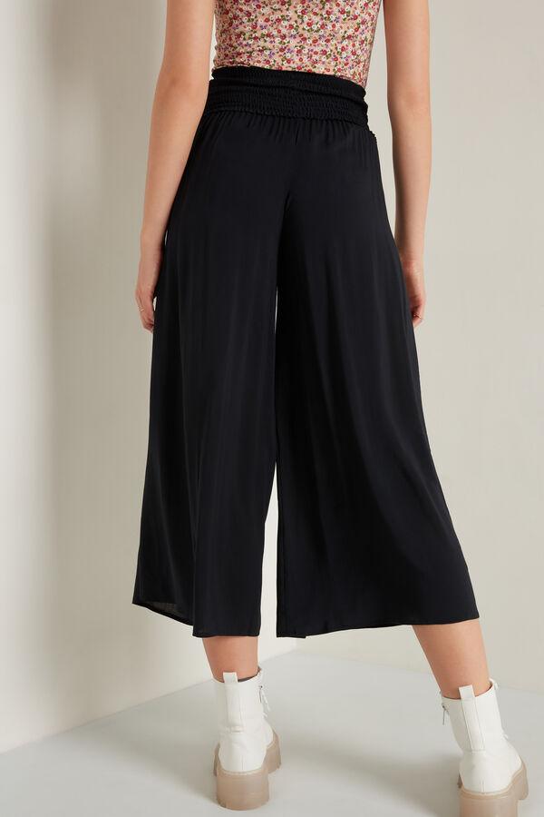 Pantalones Estilo Japonés de Tela Punto Nido de Abeja