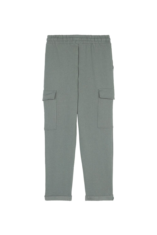 Fleece Jogging Pants with Cargo Pockets