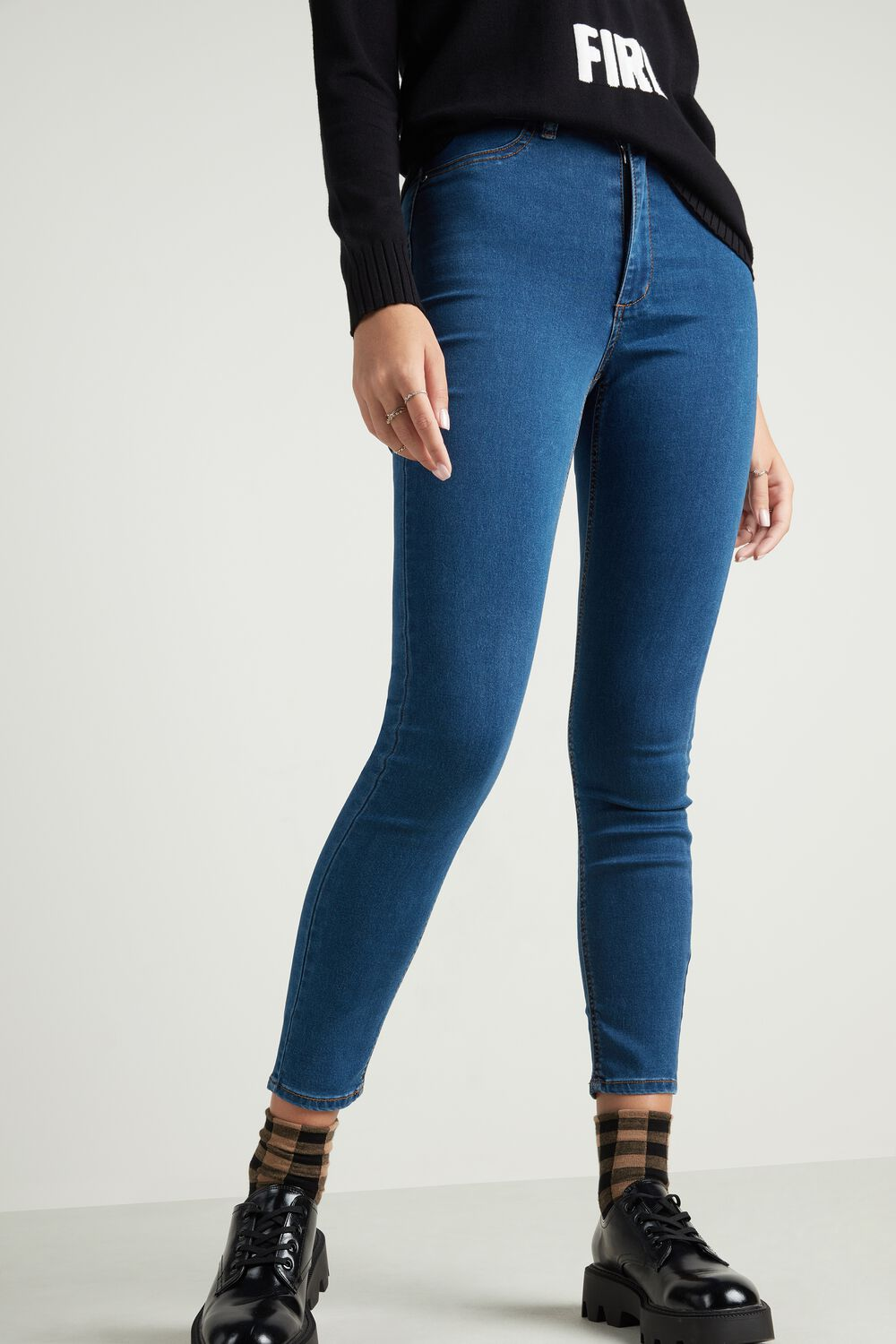 Jeggings Cintura Subida Efeito Push-Up