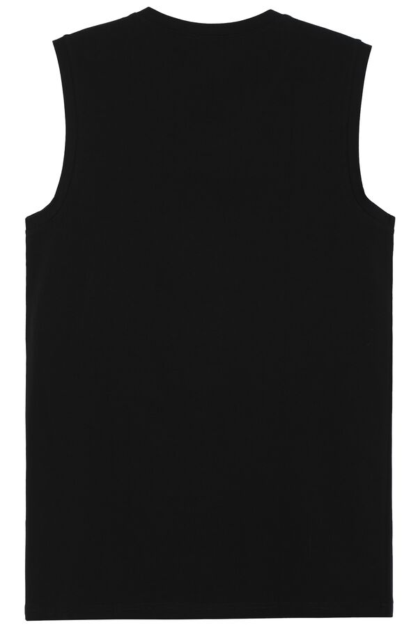 V-Neck Stretch-Cotton Vest Top