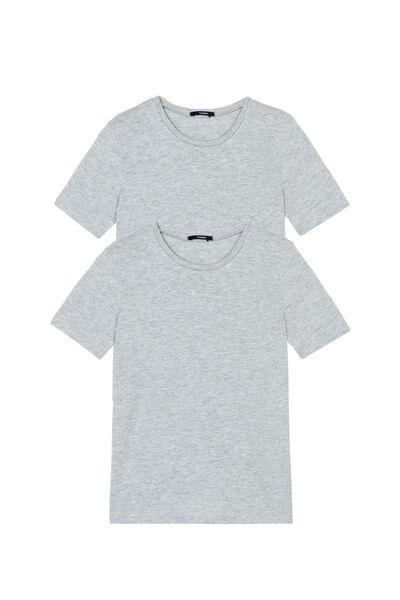 2 X Unisexové Žerzejové Tričko s Krátkým Rukávem