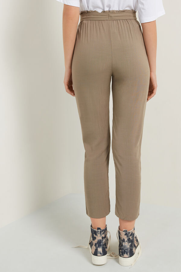 Canvas Joggers with Sash