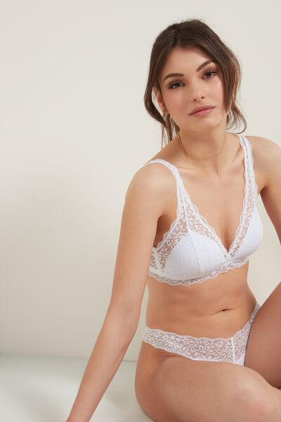 Havana Recycled Lace Triangle Bra