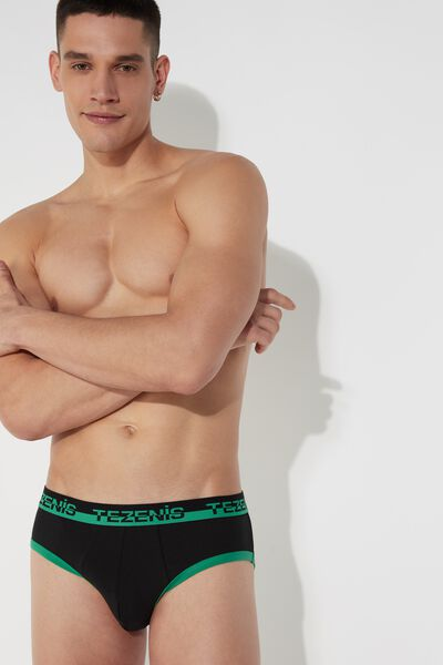Cotton Briefs with Logo Waistband