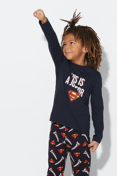 Langer Pyjama Superman