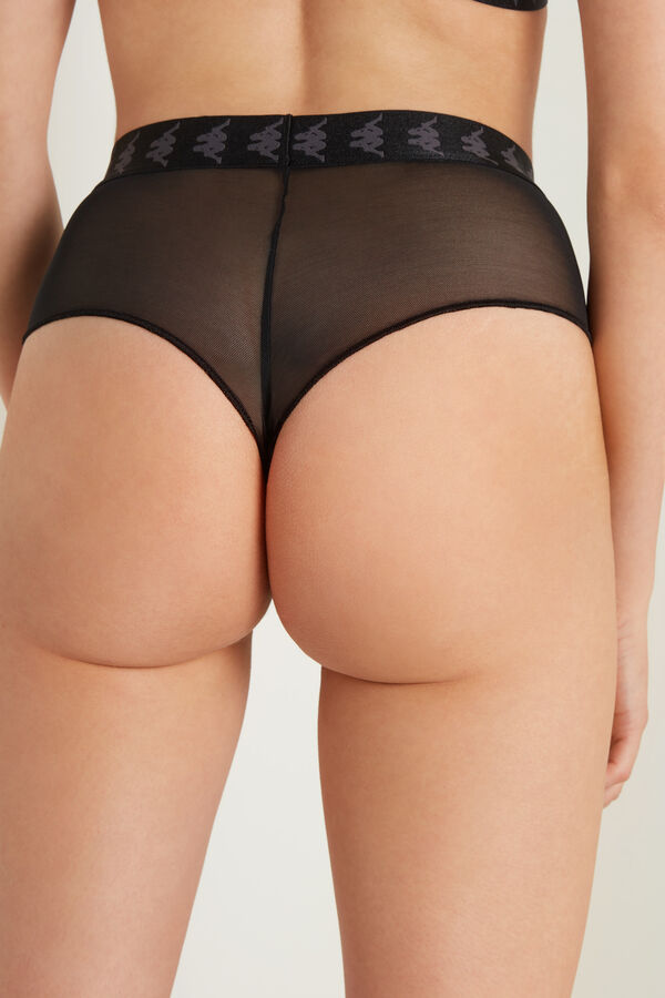 Kappa Microfibre and Tulle French Knickers
