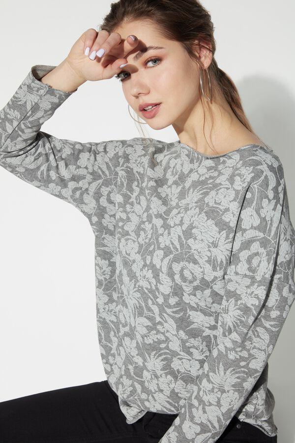 Raw Edge Boat Neck Sweatshirt