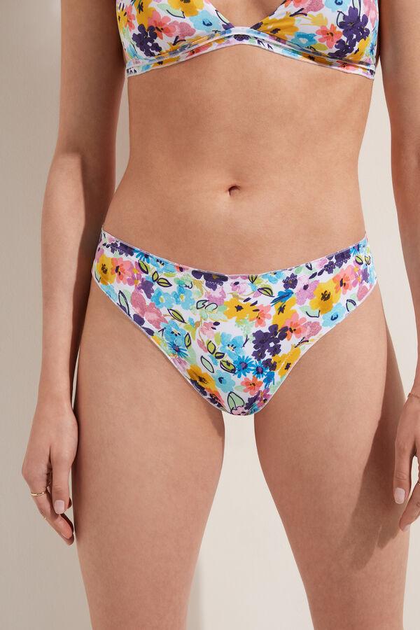 Colour Flowers Lettuce Edge Brazilian Bikini Bottoms
