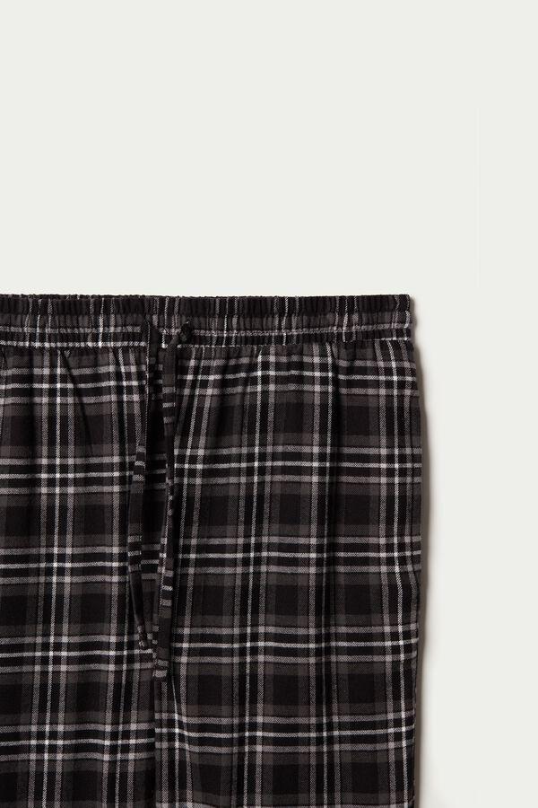 Pantalon Long en Flanelle avec Poches