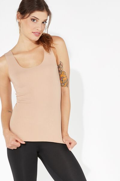 Raw-Cut Cotton Camisole