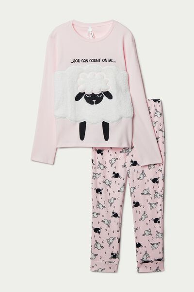 Long Pyjamas with Sheep Patches