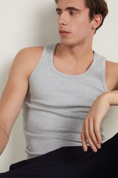 Ribbed Cotton Undershirt