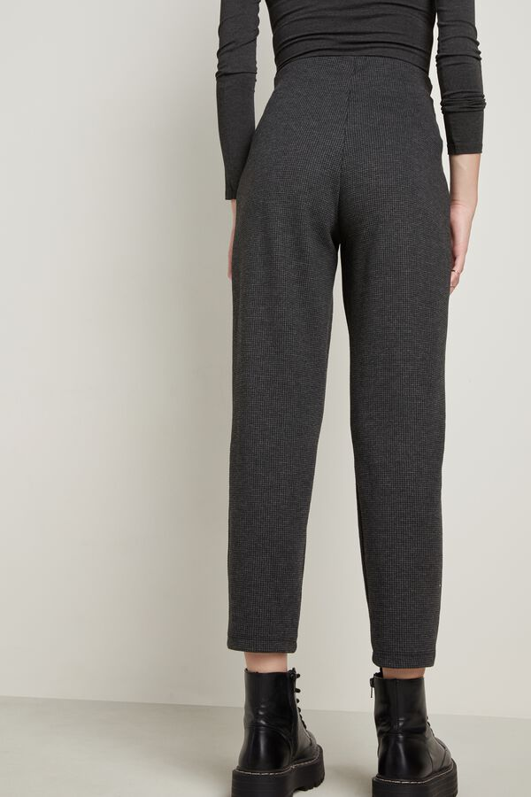Jogger with Faux Leather Drawstring