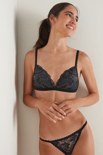 Istanbul Two-Tone Lace Triangle Bra