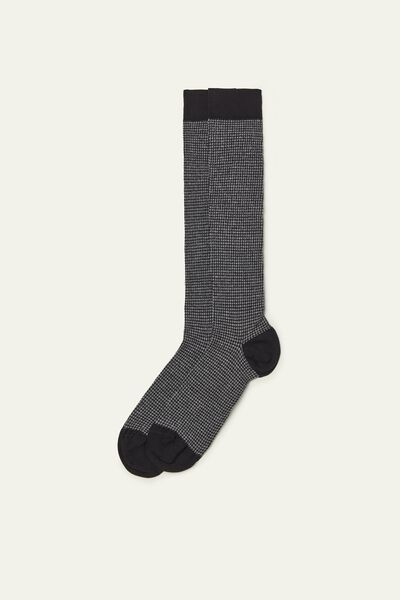 Long Patterned Lightweight Cotton Socks