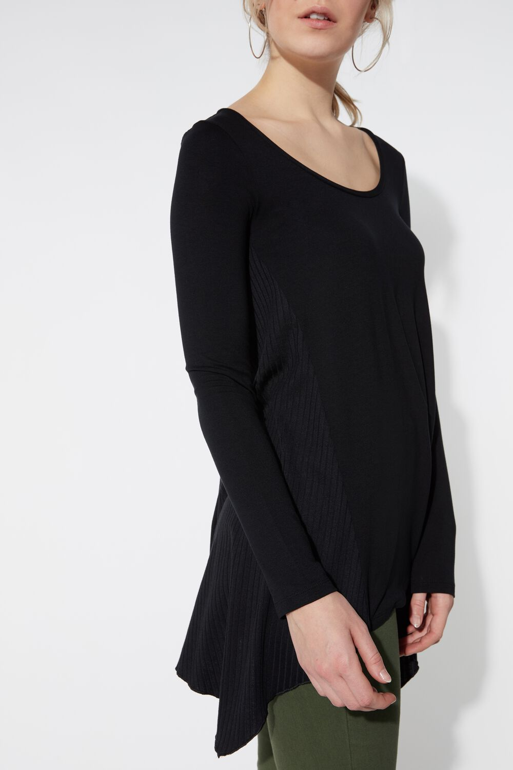Long Sleeve Jersey with Ribbed Inserts