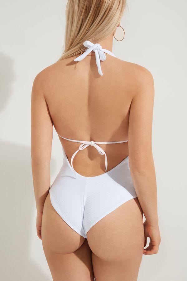 Costume Intero Triangolo White 3D