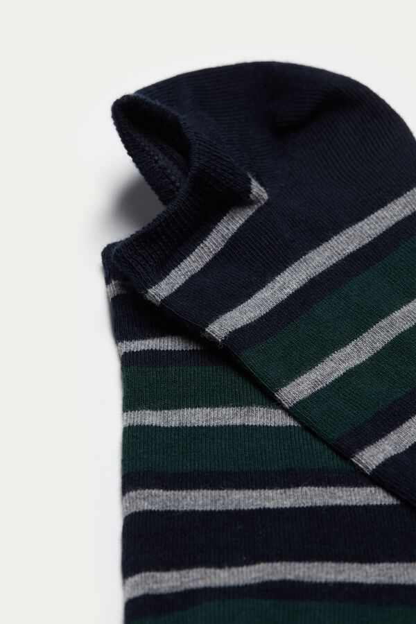 Patterned Cotton Trainer Socks