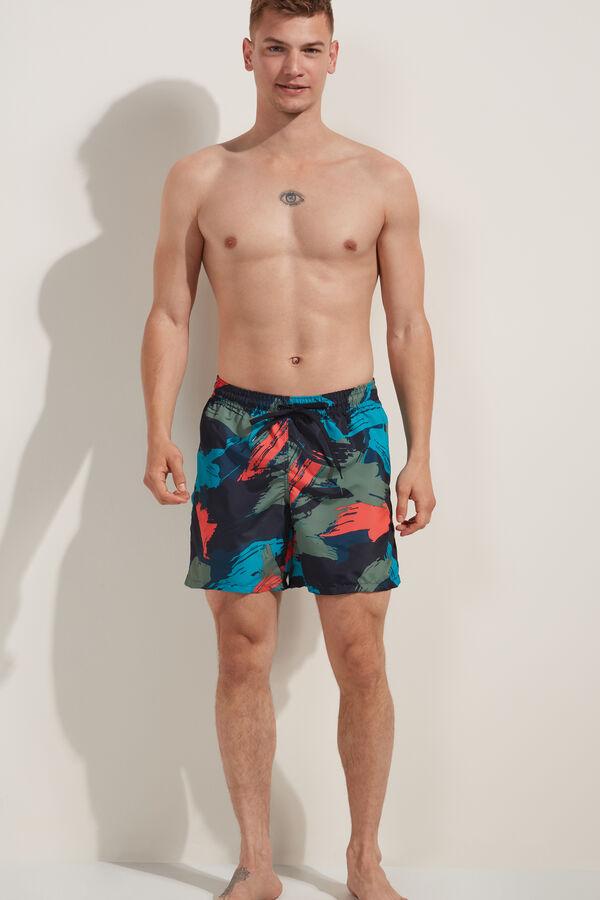 Bade-Boxershorts mit Print