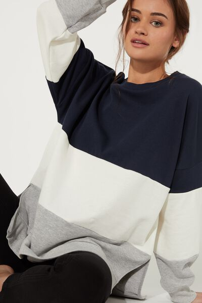 Oversize-Sweatshirt Colorblock