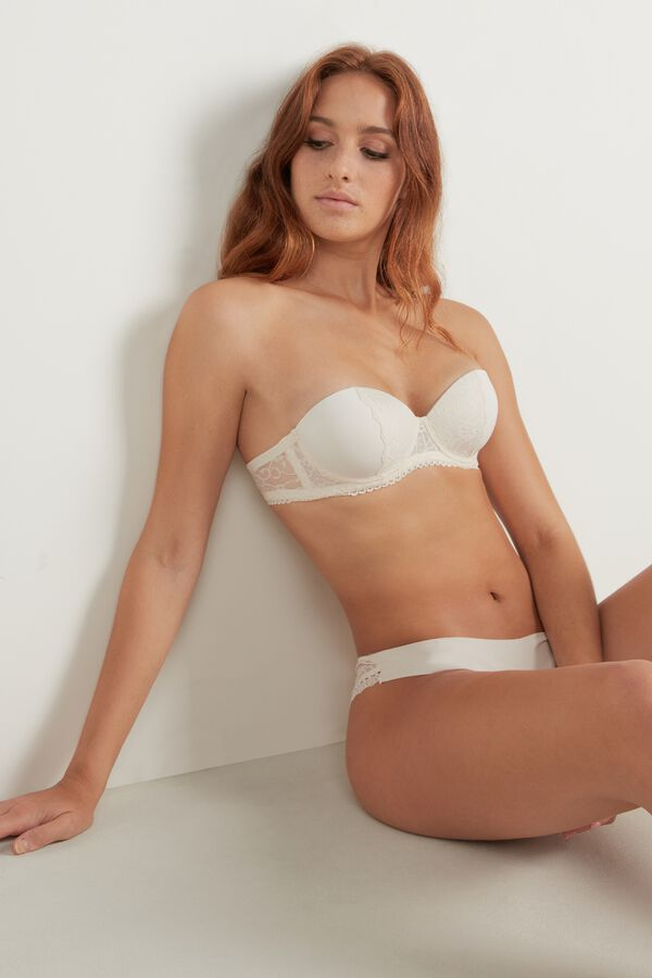 Madrid Super Padded Microfibre and Lace Bandeau Bra
