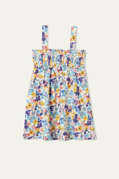 Robe Sans Manches Broderie Smock