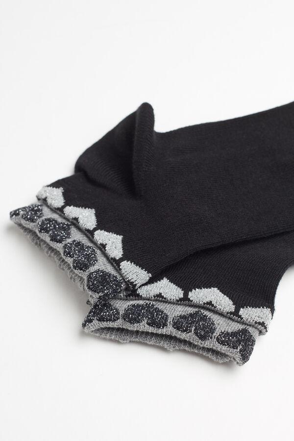 Chaussettes Invisibles en Coton Imprimé