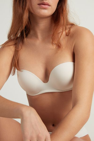 New York Padded Bandeau Bra in Microfiber