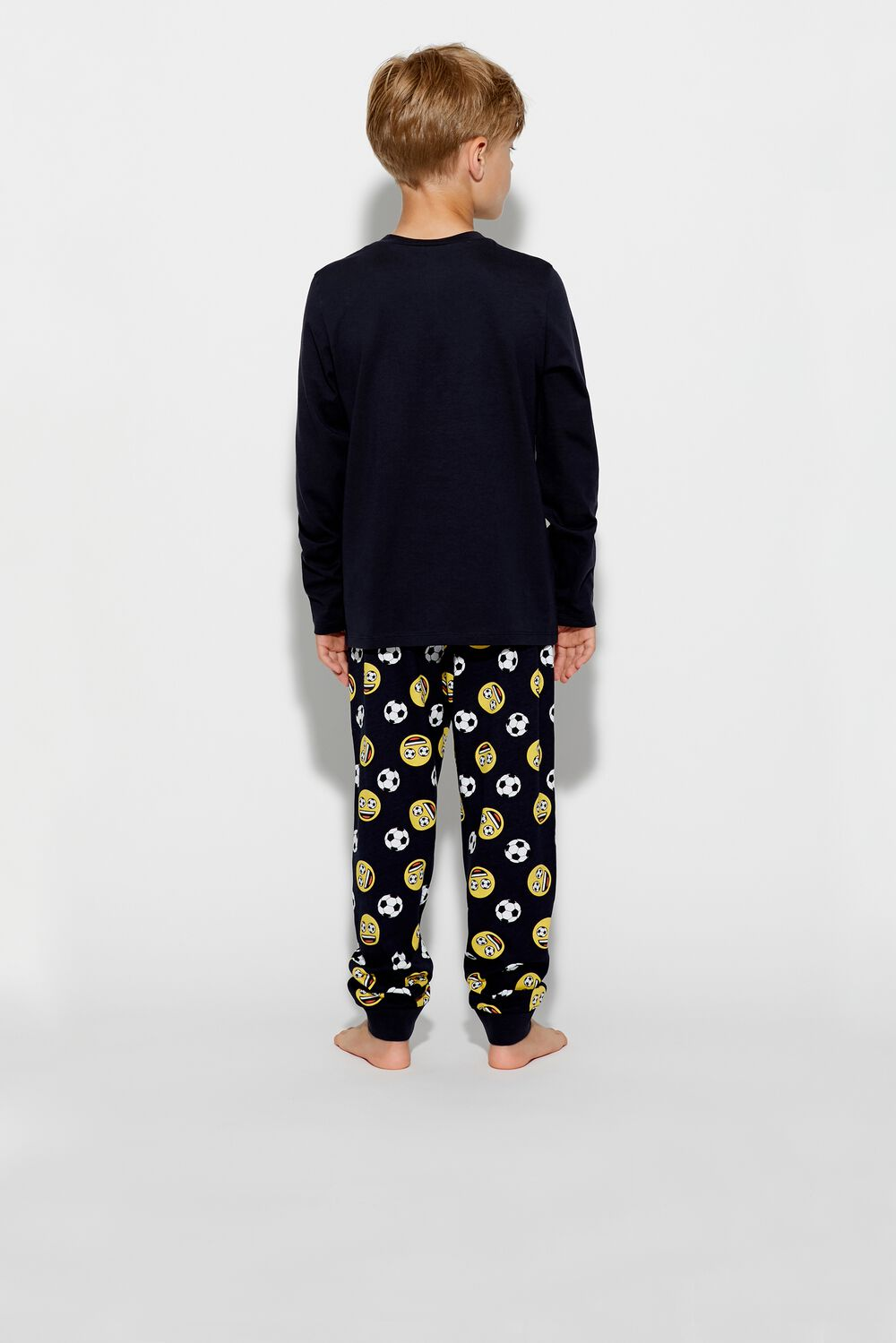 Dlhé Pyžamo s Emotikonmi Futbalovej Lopty