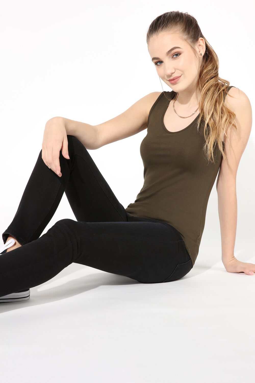 Camiseta de Tirantes Escote V Cordones Reversible