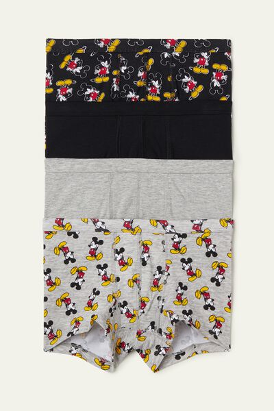 Pack 4 Boxer in Cotone con Stampa Mickey Mouse