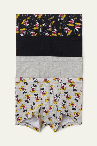 4 Darabos Mickey Mouse Mintás Pamut Bokszeralsó Csomag