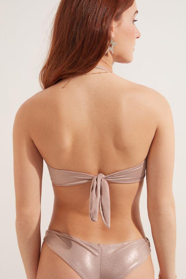 Shiny Nude Bandeau Bikini