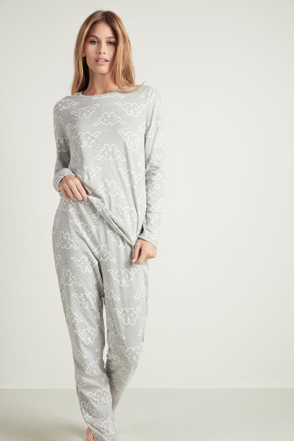 Allover Kappa Print Long Pyjamas