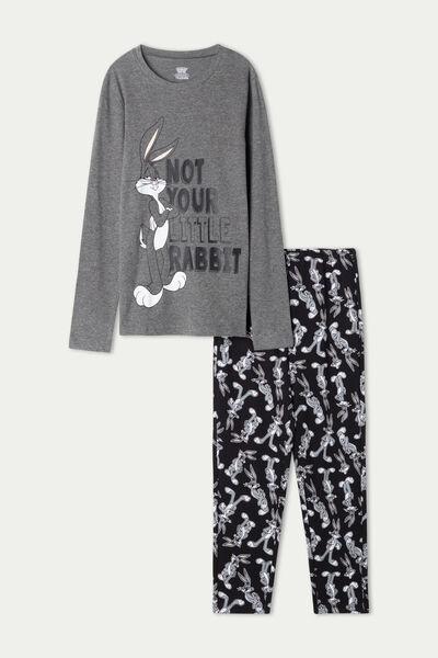 Χοντρή Βαμβακερή Μακριά Πιτζάμα για Αγόρι με Print Bugs Bunny