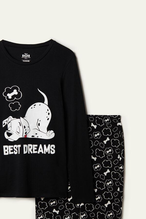 Pijama Largo de Algodón Disney 101 Estampado «Best Dreams»