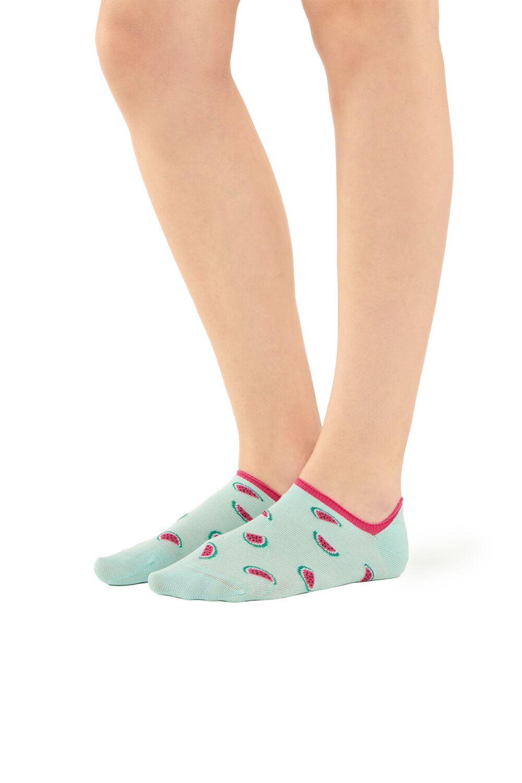 Patterned Super-Low Cotton Trainer Socks