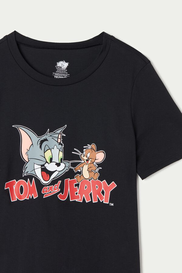 T-Shirt Algodão Tom and Jerry