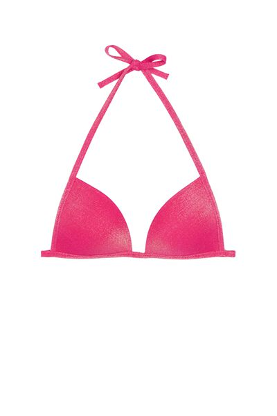 Glowing Summer Fuchsia Triangle Bikini Top