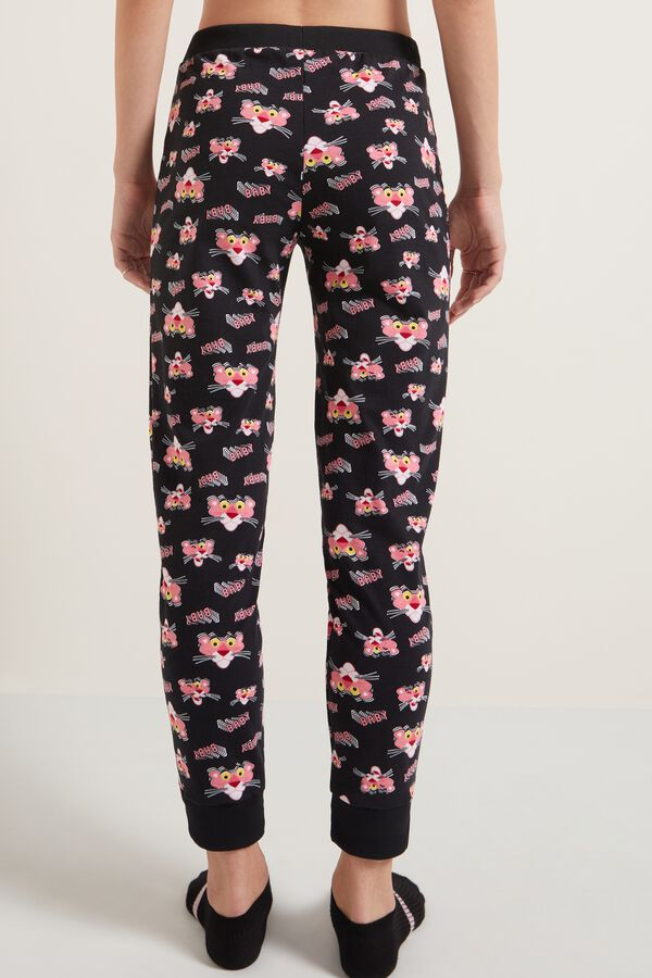 Pink Panther Print Jogging Bottoms