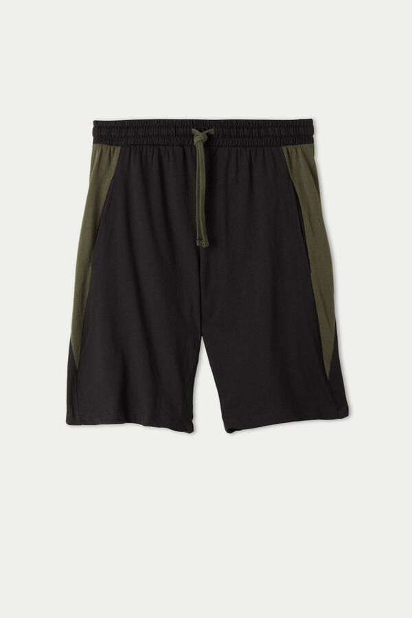 Cotton Shorts with Side Insert
