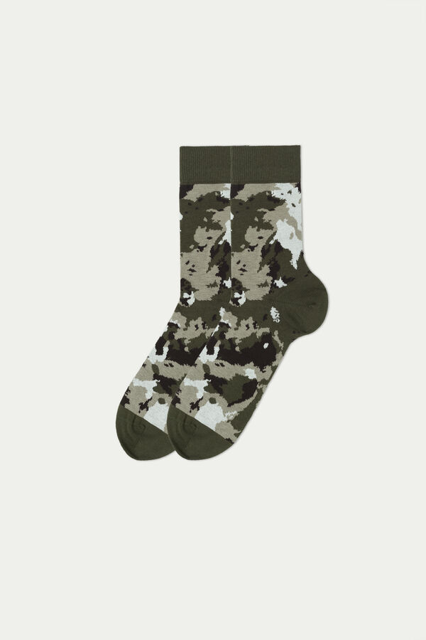 Krátke Bavlnené Vzorované Ponožky