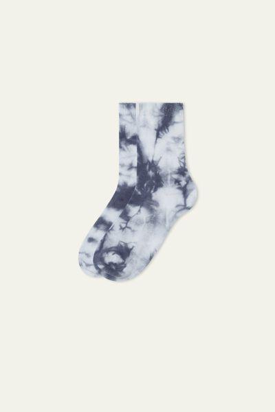 Socquettes Courtes en Coton Travaillé