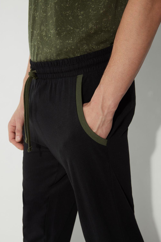 Dlouhé Žerzejové Kalhoty s Profilovanými Kapsami
