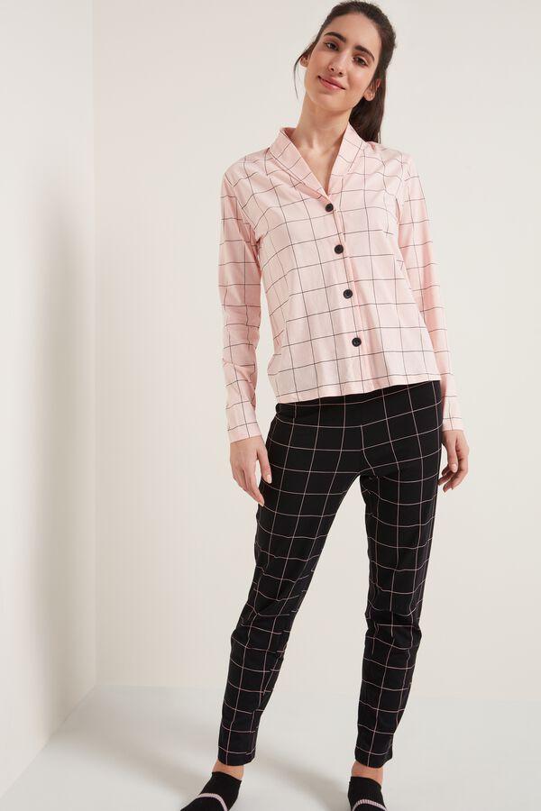 Long Cotton Button Down Pajamas