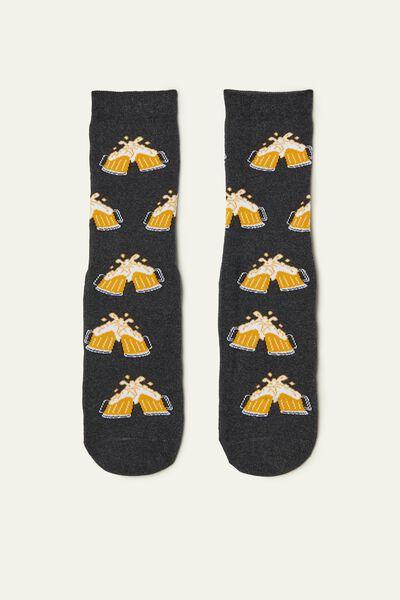 Chaussettes Antidérapantes avec Imprimé Bières
